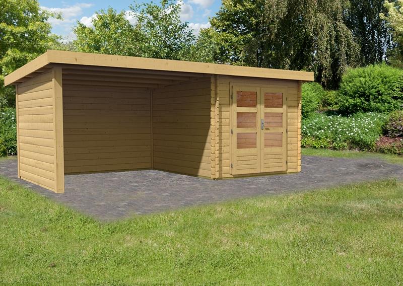 woodfeeling gartenhaus pultdach bastrup 4 28 mm 3 m schleppdach inkl seiten und r ckwand. Black Bedroom Furniture Sets. Home Design Ideas