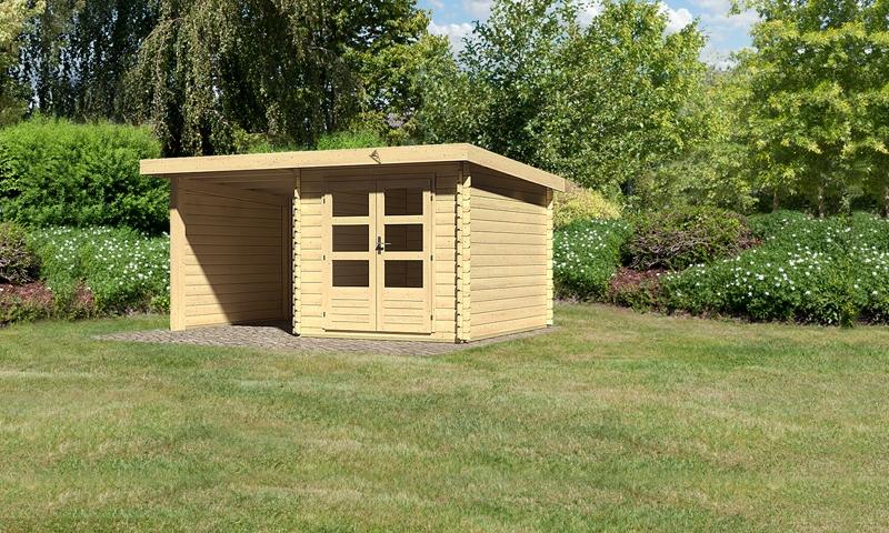 sonderangebot woodfeeling gartenhaus bastrup 4 im set mit schleppdach 2 m breit 28 mm seiten. Black Bedroom Furniture Sets. Home Design Ideas