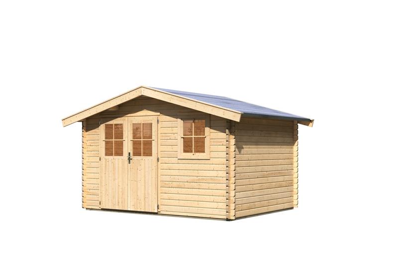 woodfeeling gartenhaus felsenau 4 satteldach 38 mm blockbohlenhaus natur. Black Bedroom Furniture Sets. Home Design Ideas