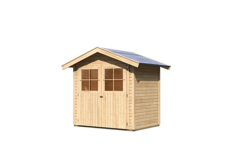 karibu gartenhaus harburg 2 satteldach 19 mm system natur. Black Bedroom Furniture Sets. Home Design Ideas