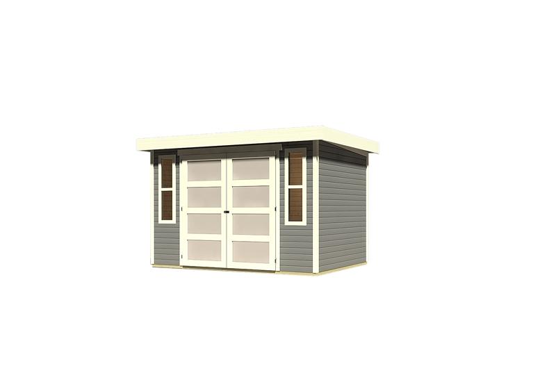 karibu gartenhaus m hlendorf 4 flachdach 19 mm system. Black Bedroom Furniture Sets. Home Design Ideas