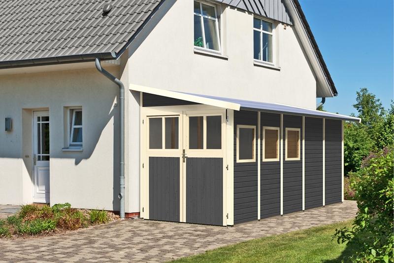 karibu gartenhaus wandlitz 5 pultdach 19 mm system terragrau. Black Bedroom Furniture Sets. Home Design Ideas