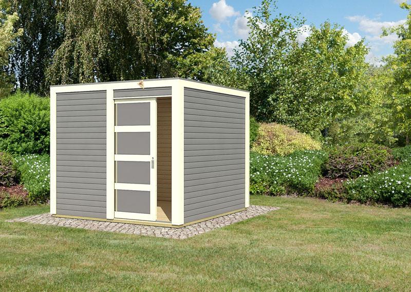 Karibu gartenhaus sparset cubini 19 mm terragrau inkl 2 x selbstklebende premium aluminiumfolie - Gartenhaus aus aluminium ...