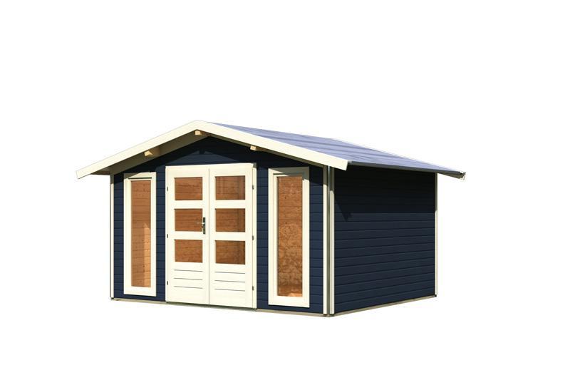 karibu gartenhaus bensburg 1 satteldach 40 mm system. Black Bedroom Furniture Sets. Home Design Ideas