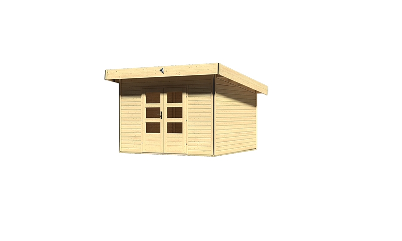 karibu gartenhaus moosburg 3 pultdach 40 mm system natur. Black Bedroom Furniture Sets. Home Design Ideas