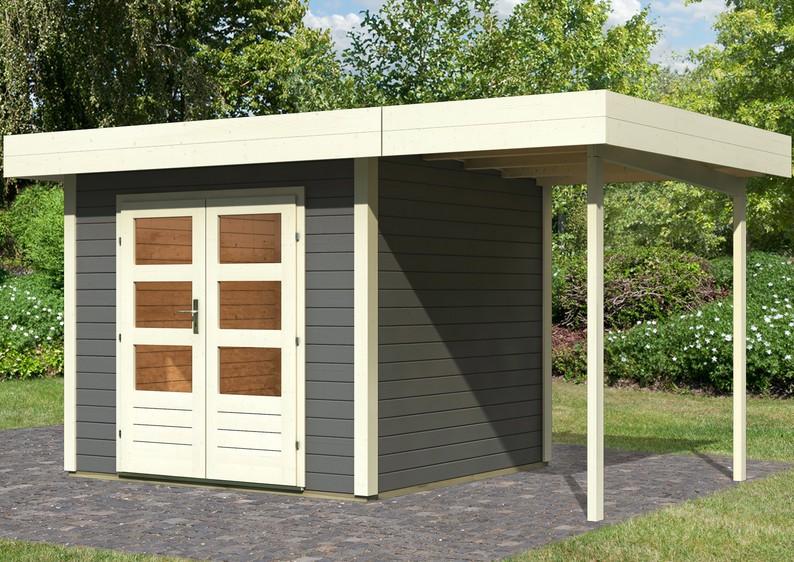 karibu gartenhaus multi cube 3 flachdach 28 mm system. Black Bedroom Furniture Sets. Home Design Ideas