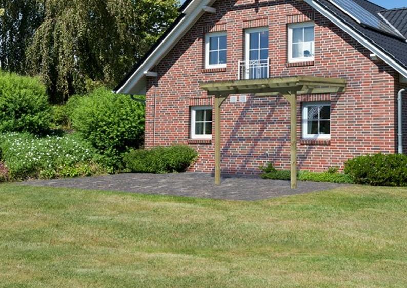 karibu holz terrassen berdachung modell 1 eco gr e a. Black Bedroom Furniture Sets. Home Design Ideas