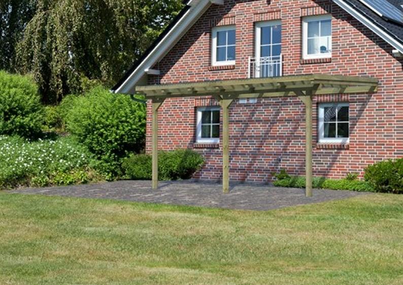 karibu holz terrassen berdachung modell 2 eco gr e b. Black Bedroom Furniture Sets. Home Design Ideas