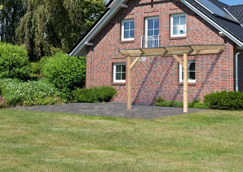 TerrassenUberdachung Holz Douglasie ~ Karibu Holz Terrassenüberdachung Modell 2 Premium  Größe A (300 x