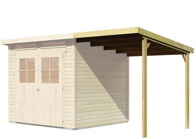karibu schleppdach kombinierbar zu gl cksburg 3 4 farbe elfenbeinwei. Black Bedroom Furniture Sets. Home Design Ideas