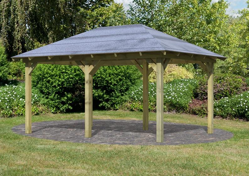karibu holzpavillon perida 1 4 eck pavillon eco kdi. Black Bedroom Furniture Sets. Home Design Ideas