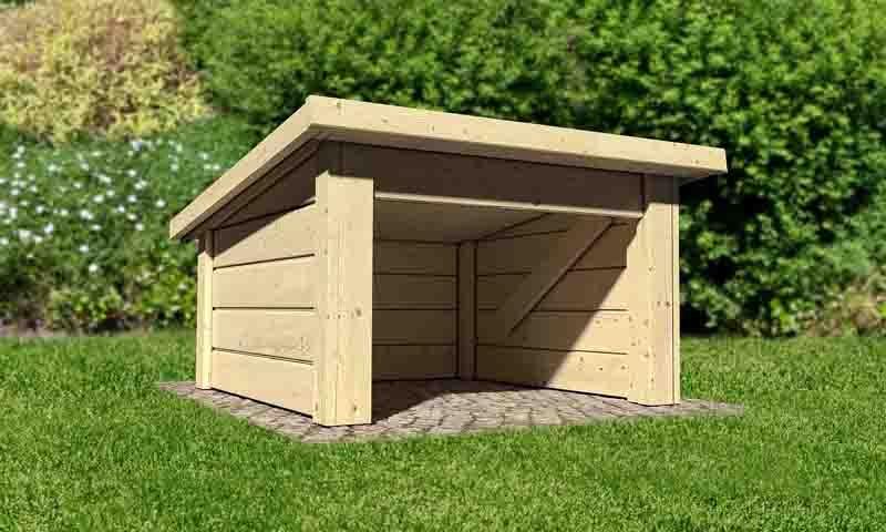 mhroboter garage selber bauen good mit stufendach bxt x. Black Bedroom Furniture Sets. Home Design Ideas