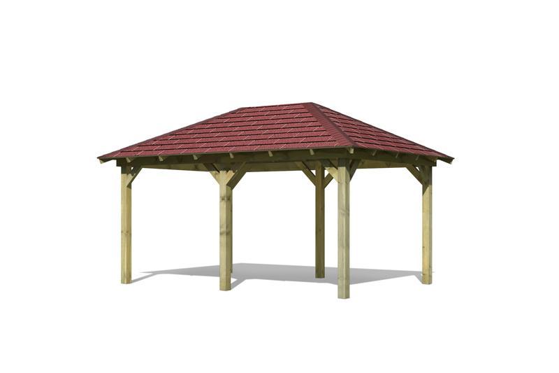 Relativ Karibu Holzpavillon Perida 1 4-Eck-Pavillon Eco inkl  EX07