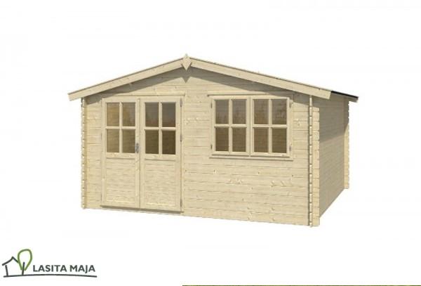 gartenhaus blockbohlenhaus flachdach axel 230 inkl dachpappe. Black Bedroom Furniture Sets. Home Design Ideas