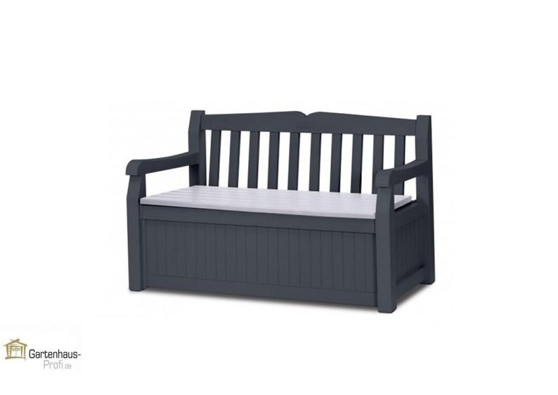 tepro kunststoff aufbewahrungsbox gartenbank garden bench 265 liter anthrazit grau. Black Bedroom Furniture Sets. Home Design Ideas