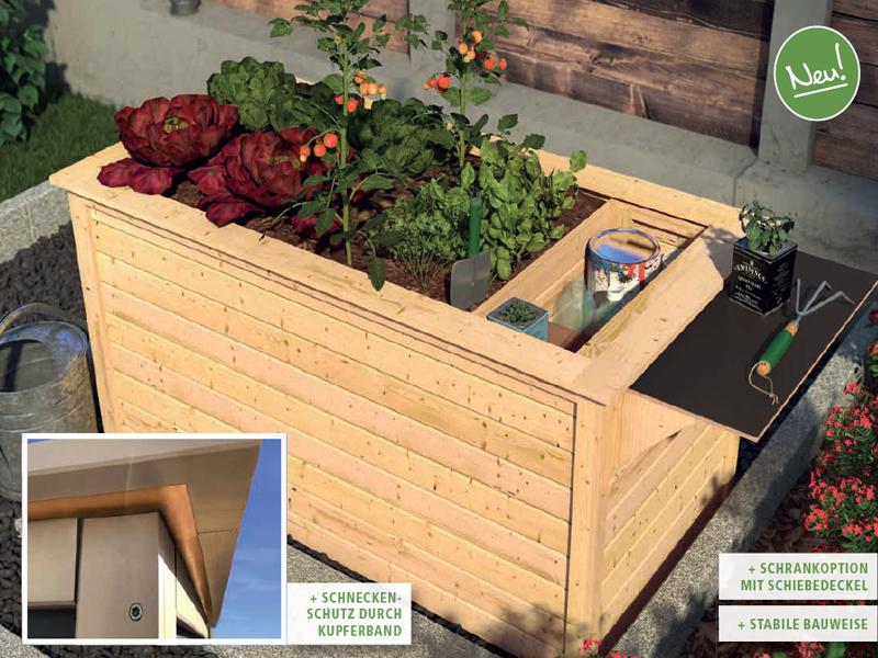 karibu hochbeet 1 315 l fassungsverm gen inkl schrankoption 19mm terragrau. Black Bedroom Furniture Sets. Home Design Ideas
