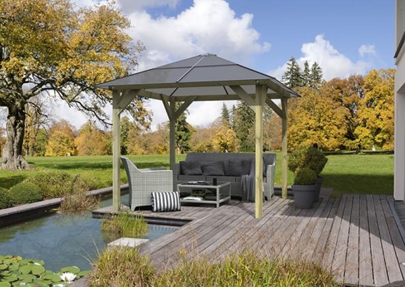 karibu pavillon 1 4 eck holz pavillon premium kdi. Black Bedroom Furniture Sets. Home Design Ideas