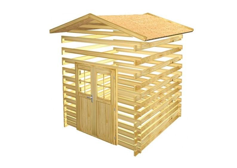 woodfeeling gartenhaus felsenau 2 satteldach 40 mm blockbohlenhaus natur. Black Bedroom Furniture Sets. Home Design Ideas