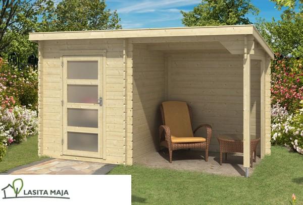 gartenhaus flachdach jelle plus inkl schleppdach und. Black Bedroom Furniture Sets. Home Design Ideas