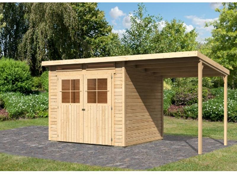 angebot karibu gartenhaus set gl cksburg 4 inkl. Black Bedroom Furniture Sets. Home Design Ideas