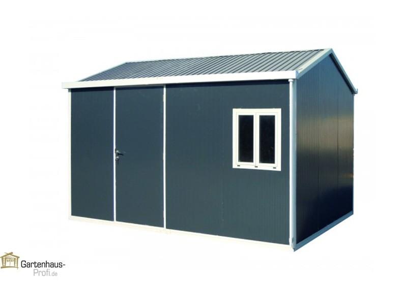tepro metallger tehaus gartenhaus cabana 10x13 anthrazit. Black Bedroom Furniture Sets. Home Design Ideas