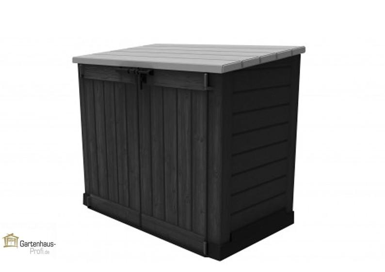 tepro kunststoff aufbewahrungsbox schrank store it out max anthrazit grau. Black Bedroom Furniture Sets. Home Design Ideas
