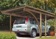 Karibu Einzelcarport Eco 1 Variante A - kesseldruckimprägniert