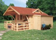Karibu Gartenhaus Pelegrin 3