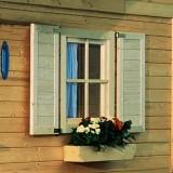 Fensterläden für 28 mm Fenster 69*79 - naturbelassen