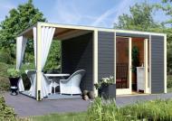 Karibu Gartenhaus Cubus Front