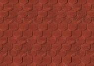Karibu Dachschindeln Biberschwanz - Dunkelrot