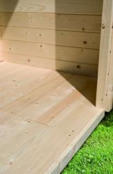 Karibu Holz-Gartenhaus  Fussboden für Sockelmass 2,50x 2,50 naturbelassen