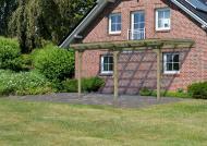 Karibu Holz Terrassenüberdachung Modell 2 ECO - Größe B (303 x 433) cm - kdi