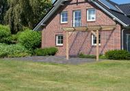 Karibu Holz Terrassenüberdachung Modell 1 Premium - Größe A (250 x 310 cm) - Douglasie gerade