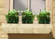 Karibu Blumenkasten inkl. Kunststoffeinsatz - natur