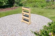 "Karibu Vertikalbeet - ""urban gardening"" - 4 Pflanzkästen - 8,5 l pro Kasten - 18 mm - naturbelassen ungehandelt"