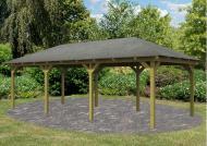Karibu Holzpavillon Merida 2 4-Eck-Pavillon Eco - kdi