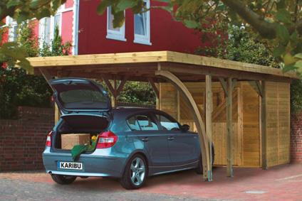 karibu carports und garagen aus holz online kaufen. Black Bedroom Furniture Sets. Home Design Ideas