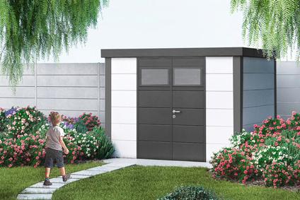 Gartenhaus Aus Blech. Gartenhaus Metall Mittlere Mit Doppeltr X X
