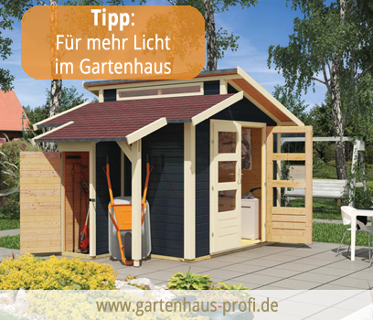 gartenhaus mit stufendach aus holz jetzt g nstig kaufen. Black Bedroom Furniture Sets. Home Design Ideas
