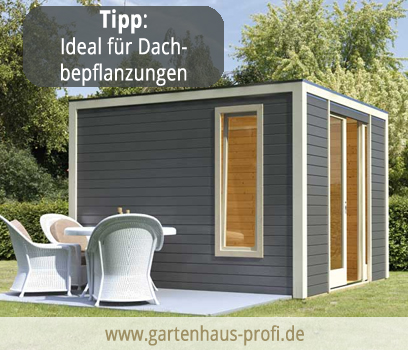 beautiful modernes gartenhaus flachdach photos. Black Bedroom Furniture Sets. Home Design Ideas