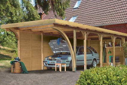 karibu carports und garagen aus holz online kaufen. Black Bedroom Furniture Sets. Home Design Ideas