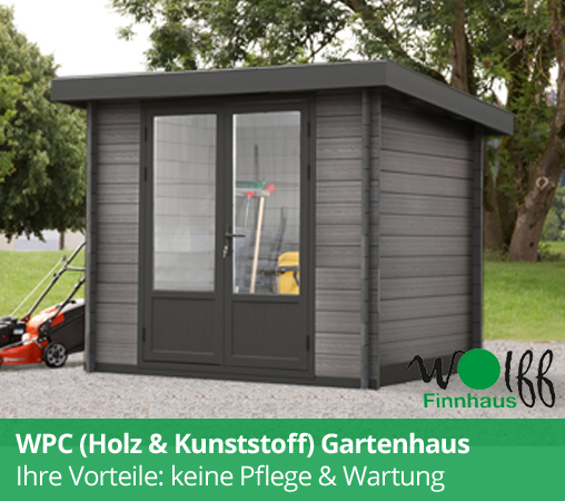 wolff finnhaus gartenhaus aus holz kaufen gratis versand. Black Bedroom Furniture Sets. Home Design Ideas